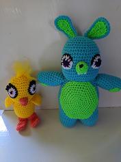 Ducky and Bunny Crochet Dolls