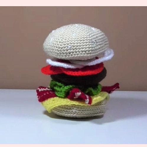 Beef Burger Crochet Pattern
