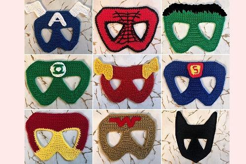 Superhero Masks Crochet Patterns - Unofficial
