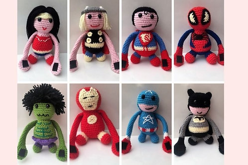 Superhero Curtain Tie Backs Crochet Pattern - Unofficial