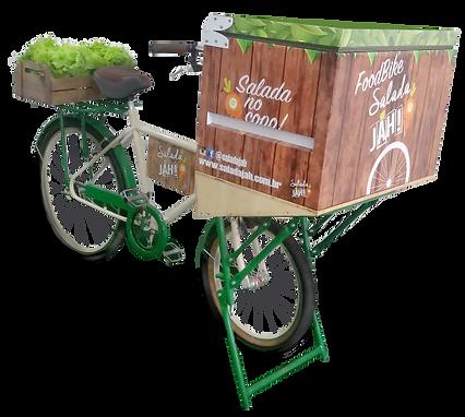 Food Bike Saudável de saladas no copo
