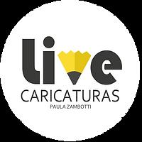 Logo Live caricaturas Paula Zambotti