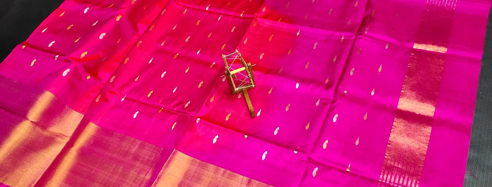 Big Border Butta Uppada saree