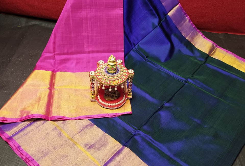 Big Border Plain Uppada saree