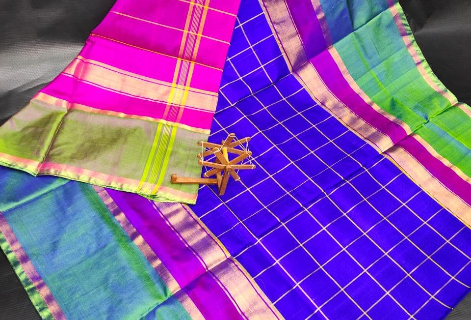 Anuskha Checks Uppada saree