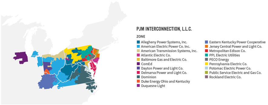 PJM Interconnecton utilities