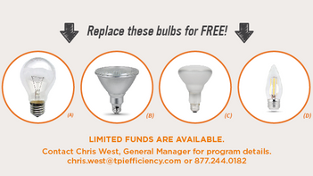 TPI Efficiency Announces FREE LED Screw-In Replacement Program!