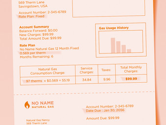 Your Natural Gas Bill Explained: