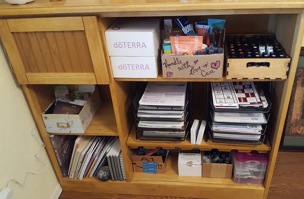 No labels on paper trays, shelves, or boxes
