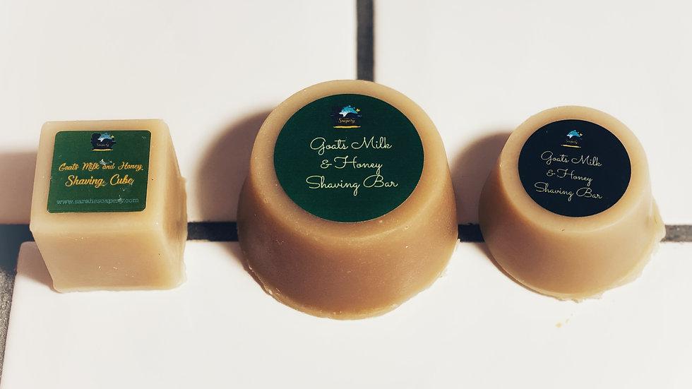 Creamy Goats Milk & Honey Shaving Cube