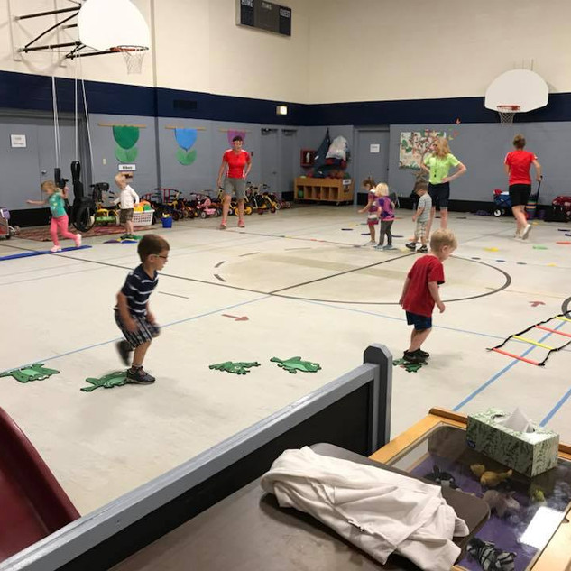 Large Motor -To develop coordination through physical active play indoors and outdoors.