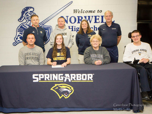 Norwell's Tourney signs with Spring Arbor