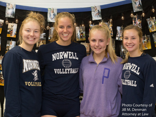 Norwell Honors Volleyball Seniors