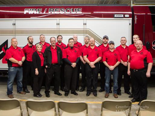 Markle Fire Dept Dedicates New Fire Truck
