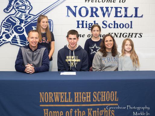 Trine Signs Norwell's Joshua Scott