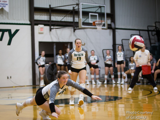 HU Volleyball WINS 3-2 vs Goshen College