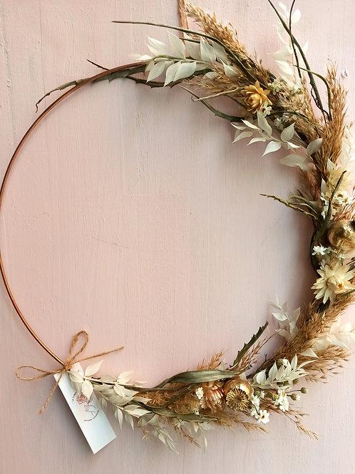 Luna - La demi couronne en fleurs séchées