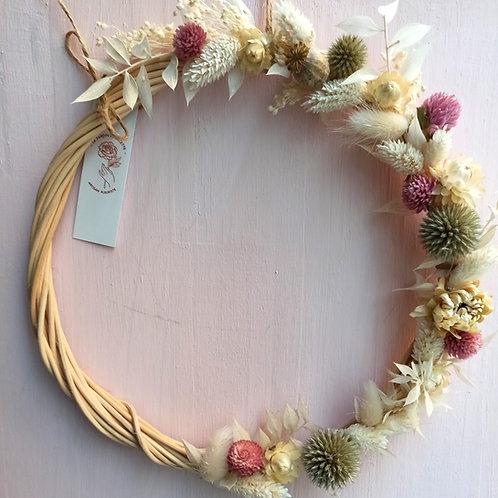 Douceur - la demi couronne de fleurs séchées