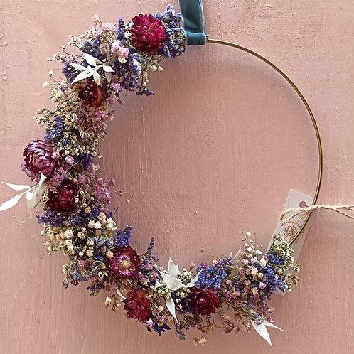 Immortelle - la demi couronne en fleurs séchées