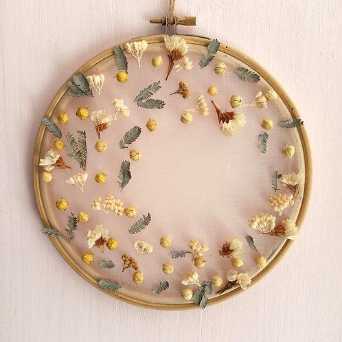 Mimosa - Le tambour à broder fleuri