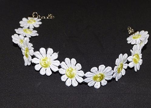 NEW Charm Daisy Flower Choker Chain [Pack of 1]
