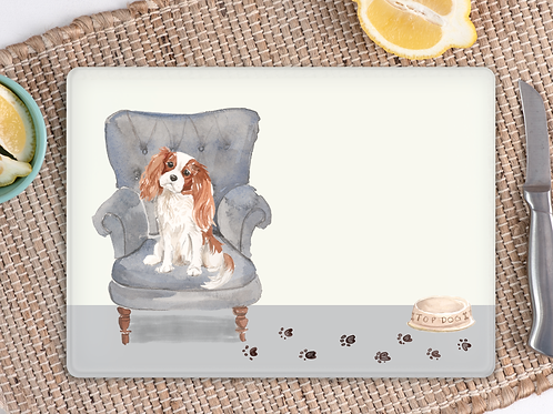 King Charles Glass Placemat