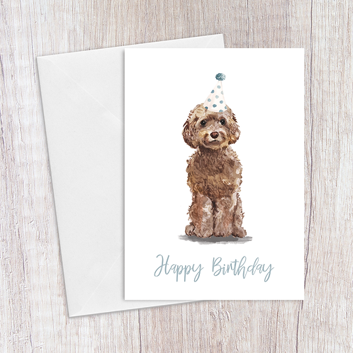 Cockerpoo Birthday Card