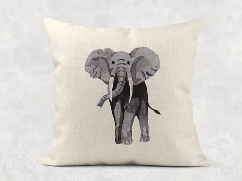 Watercolour Elephant Cushion