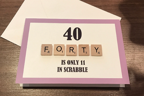 Forty Scrabble Card
