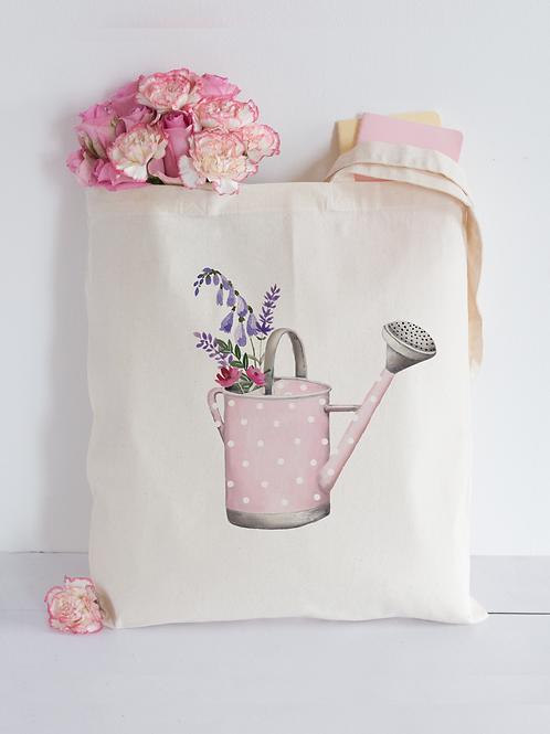 Watercolour Watering Can Tote Bag