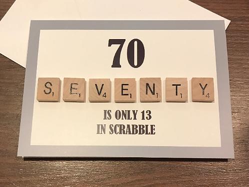 Seventy Scrabble Card