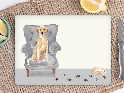 Labrador Glass Placemat