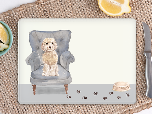 Cockapoo Glass Placemat