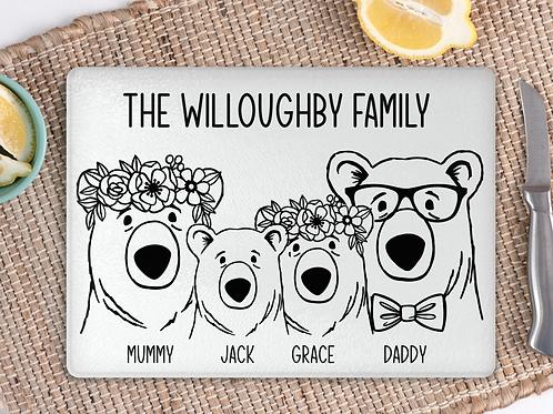 Bear Family Cutting Board