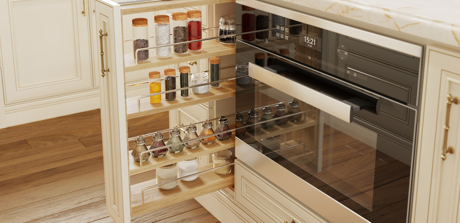 YW Kitchen Close-Up (6-in Filler Pullout