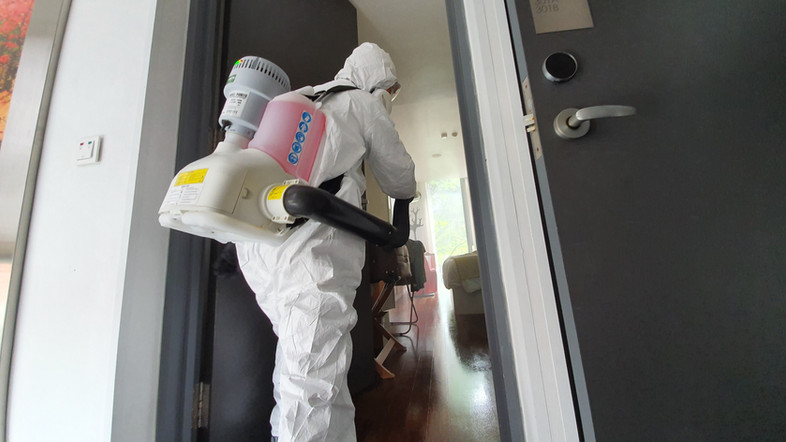 Disinfecting confirmed case for Hotel.jp