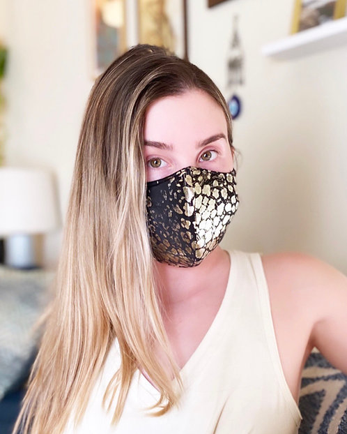 Golden scales Fashion Mask with changeable filter
