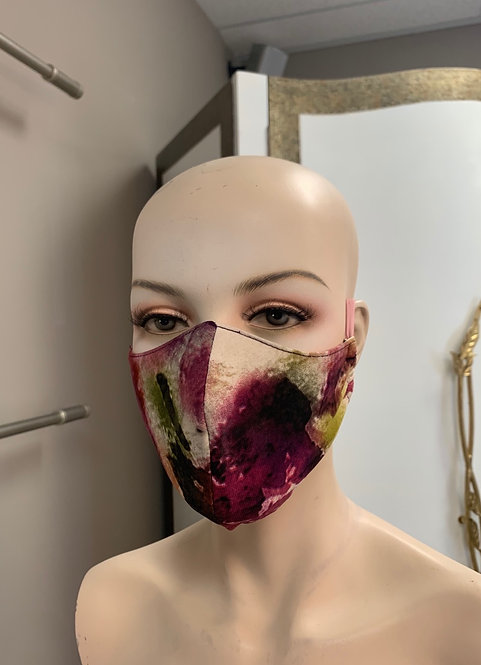 Purple flower Fashion Mask with changeable filter