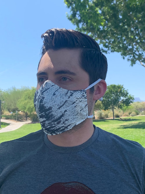 White Animal Fashion Mask with changeable filter