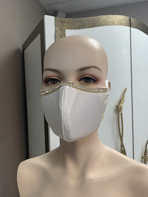 White Shimmer Mask with changeable filter