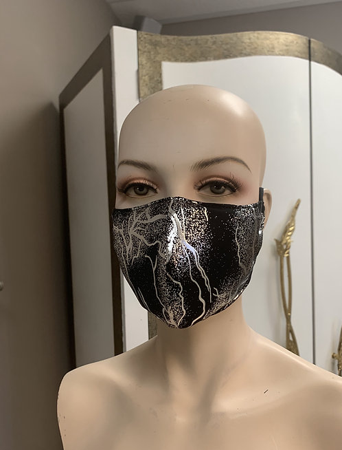 Silver lighting Metallic Fashion Mask with changeable filter