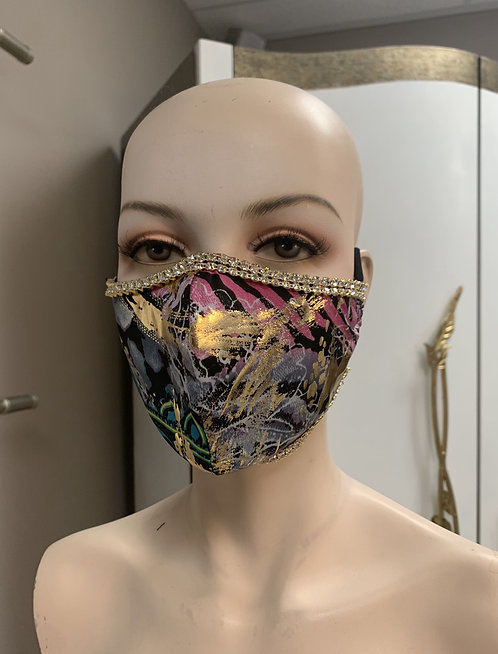 Egyptian Pink Fashion Mask with changeable filter