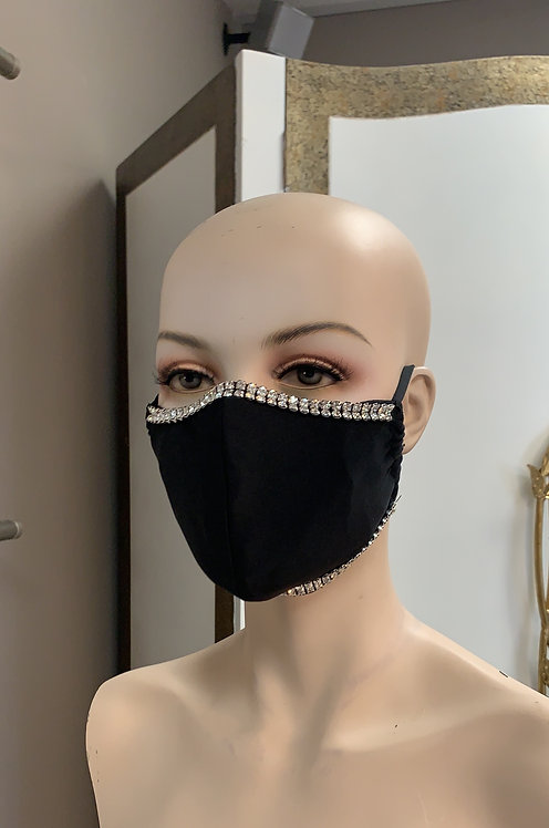 Solid Crystal Fashion Mask with changeable filter