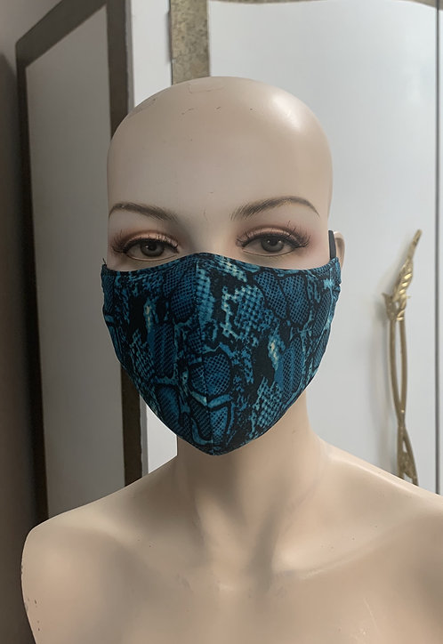 Turquoise Snake Fashion Mask with changeable filter