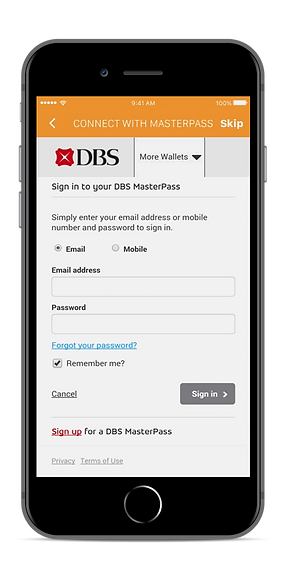 Connect to DBS Masterpass