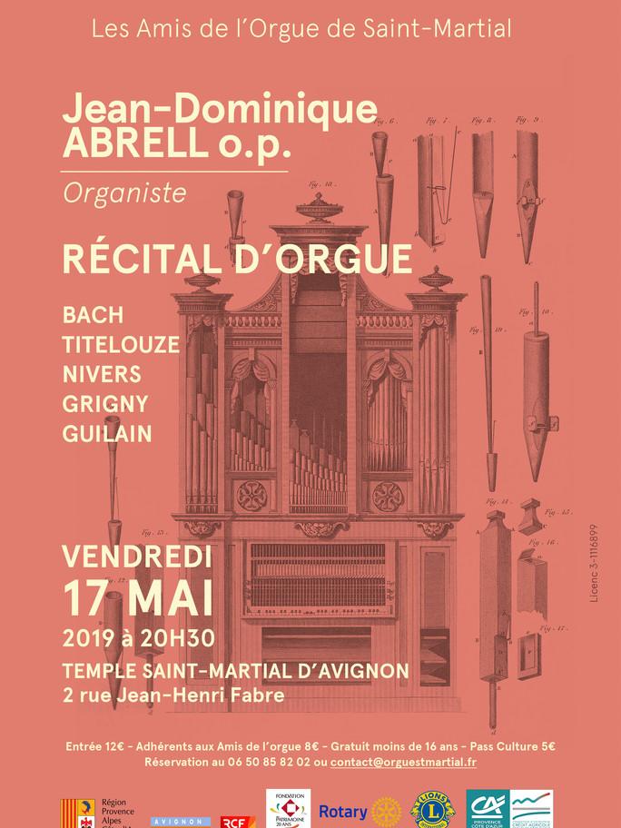 Jean-Dominique ABRELL 17 Mai 2019 au temple Saint-Martial