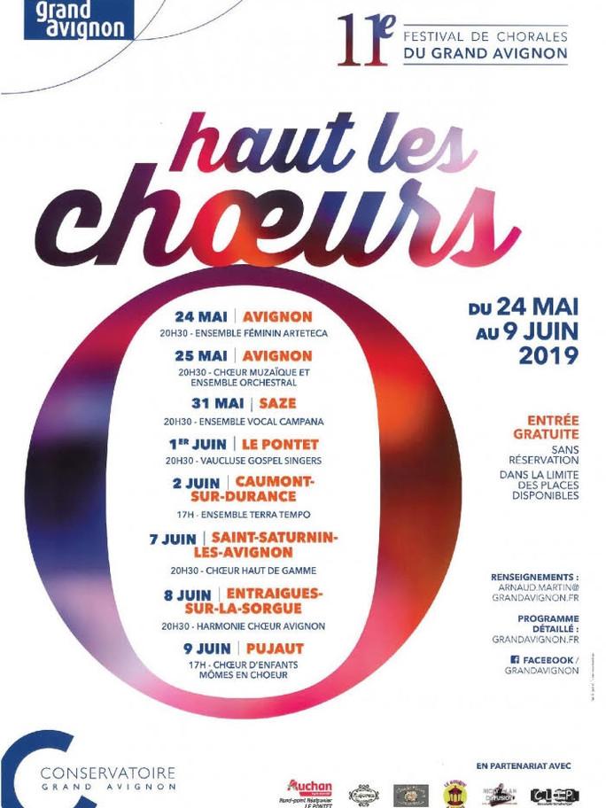 Festival Haut les Choeurs 24 et 25 Mai 2019 au temple St-Martial