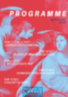 Flyer programme concerts Amis de l'orgue
