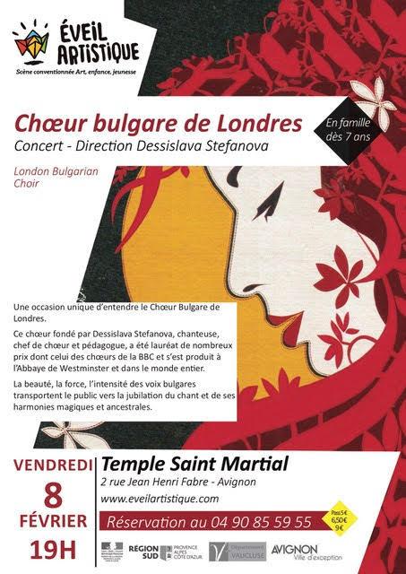 Le Choeur bulgare de Londres 08 Février 2019 au temple St-Martial