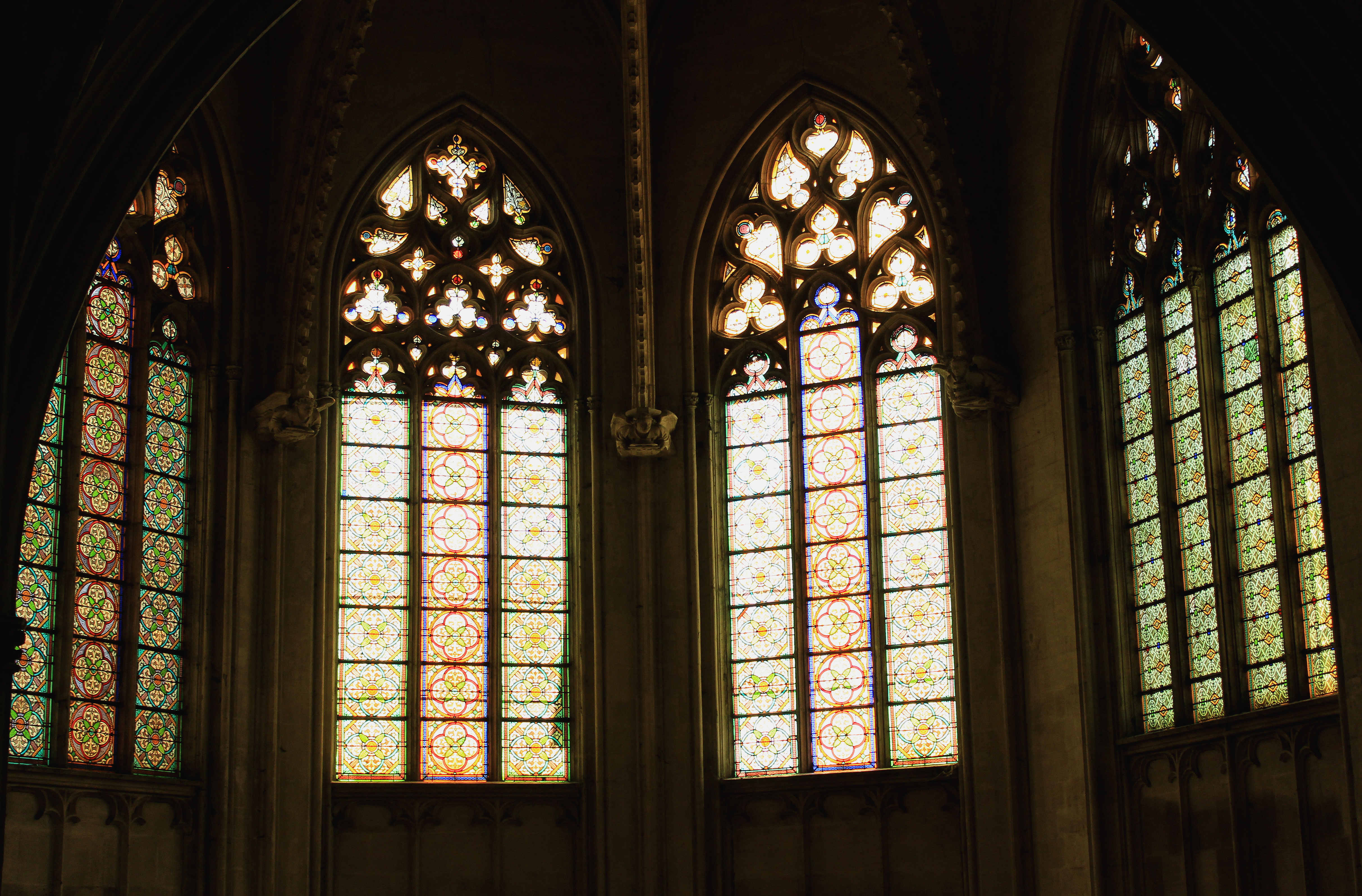 vitraux du temple